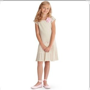 American Girl Ivory Spring Knit Sweater Dress